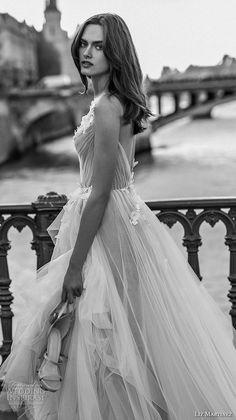 liz martinez 2018 bridal sleeveless v neck ruched bodice lightly embellished bodice tulle skirt romantic a line wedding dress open back chapel train (1) zsdv -- Liz Martinez 2018 Wedding Dresses