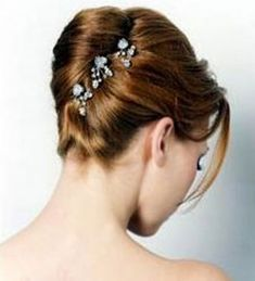 Like the decoration and add a simple veil. Can take the veil off for the reception but still have a little something pretty in your hair
