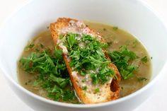 Onion Soup and Bone Marrow Toast