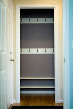 Reinterpreting the Hall Closet to a Mini Mudroom – Remodelaholic