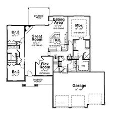 3 bedroom ranch floor plans floor plans aflfpw75216 1 for 2200 square foot house plans