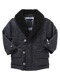 twill sherpa jacket for toddler boys