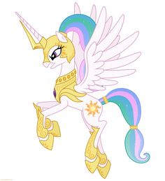 Celestia in armor 2 - PNG by ~Larsurus on deviantART