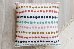 Dotted Line Pillow by Anne Holmquist | Minted