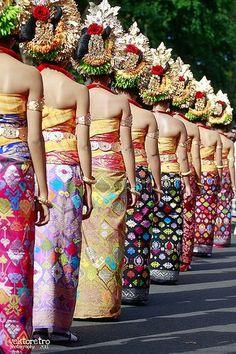Girls on the line. 33rd Bali Art Festival June 2011, Bali, Indonesia
