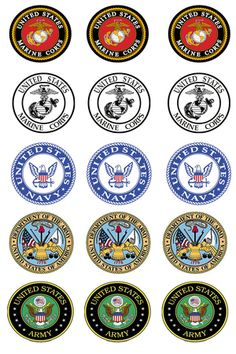 "free bottlecap images | Free Stuff: 1"" Military Logo Bottle Cap Images - Listia.com Auctions ..."