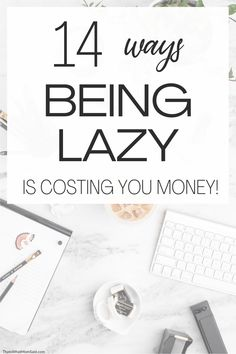 Use these money saving tips to see if your laziness is costing you money and what you can do about it. Stop wasting money and save more! You can stop these money wasting habits and save money fast. Saving money tricks | Budgeting money #frugalliving #moneygoals #savingideas #savingstips #tipstosave