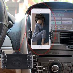 [$1.34] 360 Degree Rotation Universal Smart Phone Car Mount Air Vent Hand Style Holder(Black)
