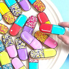 Happy pills! If you want to know how I make these cookie capsules, check out my new blog at ohhappyday.com