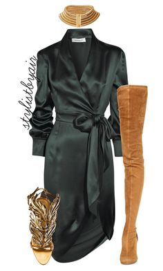"""Untitled #4055"" by stylistbyair ❤ liked on Polyvore featuring Yves Saint Laurent, Maison Margiela and Giuseppe Zanotti"