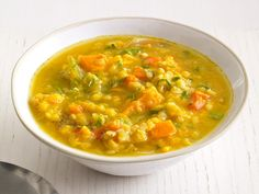 Slow-Cooker Sweet Potato and Lentil Soup #MeatlessMonday