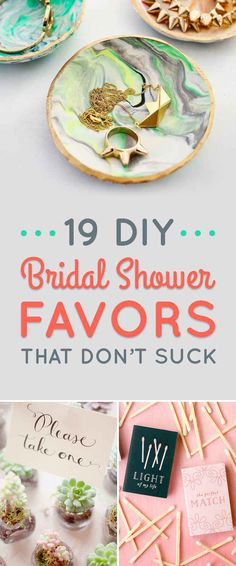 19 DIY Bridal Shower Favors That Don't Suck