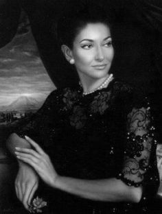 """Maria Callas (1923-1977). was an American-born Greek soprano and one of the most renowned and influential opera singers of the 20c.. Critics praised her bel canto technique, wide-ranging voice and dramatic gifts. Her repertoire ranged from classical opera seria to the bel canto operas of Donizetti, Bellini and Rossini; further, to the works of Verdi and Puccini; and, in her early career, to the music dramas of Wagner. Her musical and dramatic talents led to her being hailed as """"La Divina""""."""