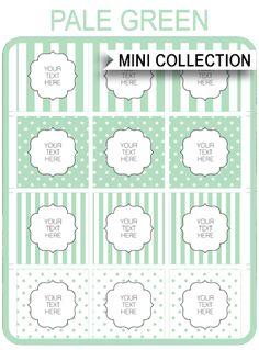 Free Baby Shower Printables – green stripes and polkadots via SIMONEmadeit.com