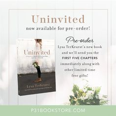 we love jesus! Uninvited Book, New Books, Books To Read, Proverbs 31 Ministries, Lysa Terkeurst, Live Love, Spiritual Growth, Book Nerd, Book Lists