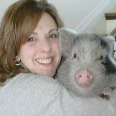 Zumi - The Palliative Pig.  Taking animal therapy to new heights.