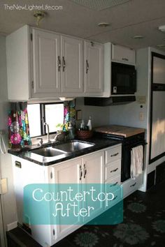"""The fit and finish I am envisioning... no """"RV"""" style here, more like REAL style! Updating RV Counters With Giani Granite Countertop Paint"""