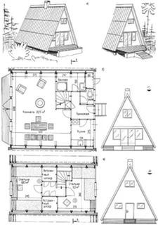 A-frame house plans. Tiny House Cabin, Tiny House Design, Cabin Homes, Small House Plans, Hut House, Tiny Houses, A Frame Cabin Plans, A Frame Floor Plans, Triangle House