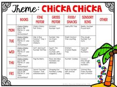 Tons of Chicka Chicka Boom Boom Ideas for Tot School, Preschool or kindergarten! Lesson Plans For Toddlers, Preschool Lesson Plans, Preschool Literacy, Preschool Themes, Preschool Crafts, Preschool Centers, Kindergarten Activities, Toddler Activities, Kids Crafts