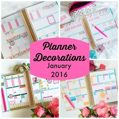 Planner Decorations January 2016 (Erin Condren LifePlanner)