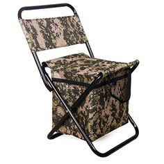 Amazon.com   Swarokaren Camping Cooler Chair Outing Fishing Chair with Cooler  Bag Pack Camo   Sports   Outdoors 39a7c913398fb