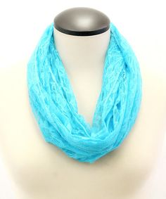 Look what I found on #zulily! Blue Neon Lace Infinity Scarf by Memories #zulilyfinds