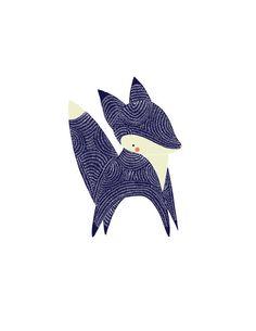 January Little Fox Illustration by Gingiber on Etsy, $20.00