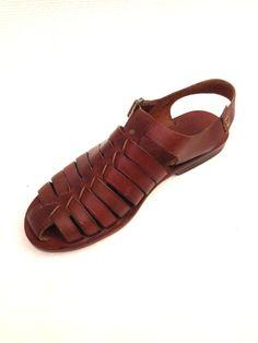 GENUINE LEATHER Handmade Sandals for men DOROS by BODRUMSANDALS, $128.00