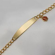 Medical Alert Jewelry For Women Med Bracelets 14k White Gold Id