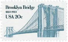 Was issued for the 100th anniversary of the Brooklyn Bridge.