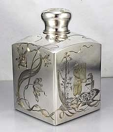 Russian Art Nouveau Silver Tea Caddy, early 1900s  Exquisite
