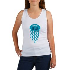 biology puns Dont Be Jelly Jellyfish Pun - Great humorous womens tank top for the marine biologist or oceanographer. This funny marine biology pun with jellyfish design says: Dont Be Jelly. Marines Funny, Biology Humor, Best Tank Tops, Marine Biology, Biologist, Jellyfish, Puns, Color Combinations, Tank Man