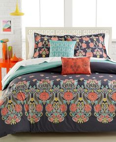 Susanna 4-Pc. Full Comforter Set | macys.com will go with all the colors in my new room