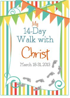14 days of small lessons about Christ to do leading up to Easter