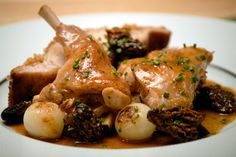 Jacques Pepin's Recipe for Sautèed Rabbit with Morels and Pearl Onions