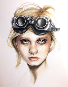 """Saatchi Online Artist: Jessica Rae Sommer; Colored Pencils, 2013, Drawing """"Thursday """""""