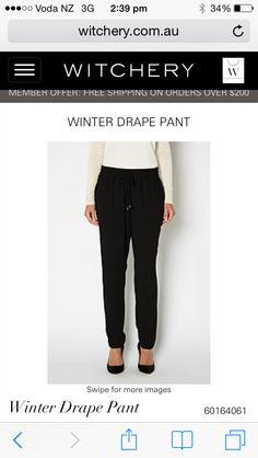 Witchery drape pants