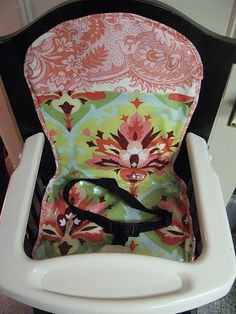 High chair cover tutorial!!! I have been wanting to make one, now I have a tutorial!