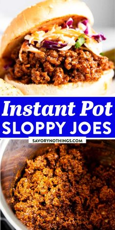 These Instant Pot Sloppy Joes are an incredibly easy family dinner that cooks mostly hands-off. Serve in your favorite buns for the ultimate busy weeknight meal! Plus, pressure cooking keeps the ground beef moist and tender and infuses it with so much flavor. | #instantpot #instantpotdinner #instantpotmeal #sloppyjoes #sandwiches #groundbeefrecipes #easydinner #easyrecipes Quick Summer Meals, Quick Easy Meals, Venison Recipes, Ground Beef Recipes, Sloppy Joes Recipe, Easy Family Dinners, Best Dinner Recipes, Slow Cooker Soup, Easy Chicken Recipes