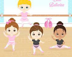 30% OFF SALE Little Ballerina Digital Clipart Ballet by LittleMoss