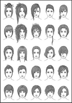 Women's Hair - Set 4 by dark-sheikah.deviantart.com on @deviantART