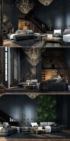 The Gorgeous Interior Design Of This 2 Storied Apartment Was Designed By Talent Ukrainian Designer Irina Dzhemesyuk And Vitaly Yurov