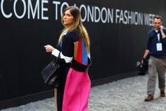 Céline coat on the streets at London Fashion Week Fall '13