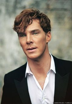 Benedict Cumberbatch in his natural gingery state...