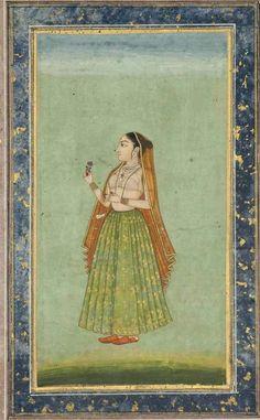 Mughal Miniature Paintings, Mughal Paintings, Indian Art Paintings, Indian Traditional Paintings, Traditional Art, Indian Artist, Art And Architecture, Art History, Folk Art