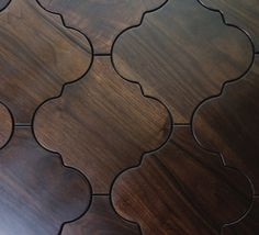 Moroccan wood floor tiles - Sextant pattern