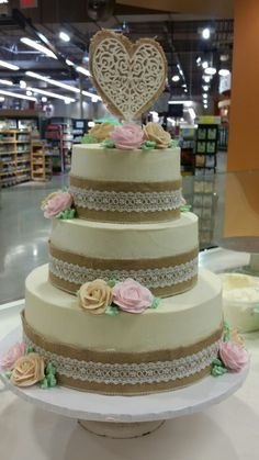 An awesome wedding cake made by our Canton bakery. So simple, yet so elegant! Bakery Cakes, How To Make Cake, Wedding Bells, Cake Decorating, Wedding Cakes, Baking, Elegant, Simple, Awesome