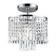 Westmore Lighting Optix 10-In W Polished Chrome Crystal Semi-Flush Mount Light Sf11991