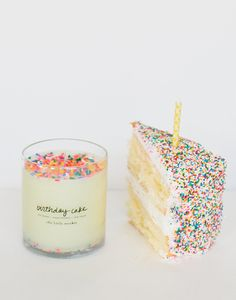 Celebrate your birthday everyday withthe deliciousscent of a freshly baked cake, frosting and all.