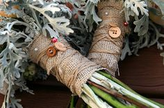 Burlap and Hessian bouquets